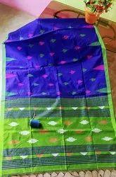 Ladies Handloom Jamdani Work Cotton Silk Saree