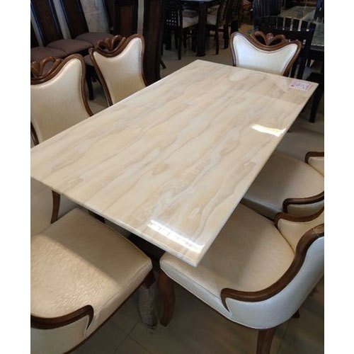 Wooden And Steel Base With Granite Top 3d Designer Epoxy Dining Table Size Dimension 3x6 Feet Rs 50000 Set Id 20946020591