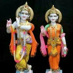 Tejasvi Marble Radha Krishna Statue