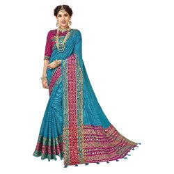 Designer Cotton Silk Weaving Saree ,6.3mtr