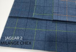 Dobby Milange Check Fabric