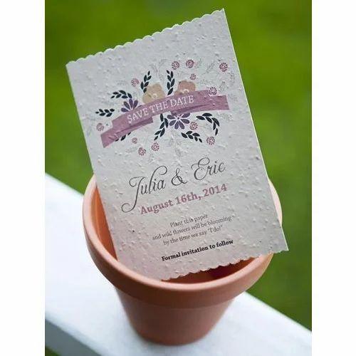 Plantable Seed Paper Wedding Invitation Cards Evolve Dehradun