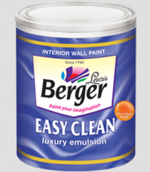 Berger Easy Clean Interior Paint, Packaging Type: Tin