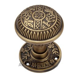 Kitron Brass Door Knob with Rose
