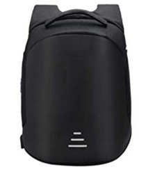 Black Polyster Anti Theft Backpack, Capacity: 35ltrs