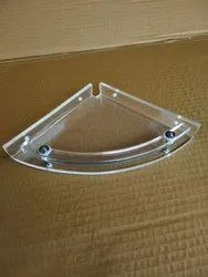 Acrylic Corner Shelf Half Round(10 Inches)