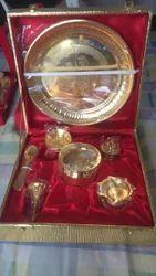 Brass Saw Pooja Thali