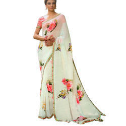 Printed Saree For Women Party wear