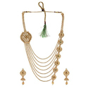 Party Maroon Artificial Necklace Earring Set
