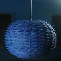 Blue Hanging Lamp