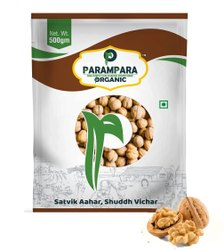 Parampara Organic Walnuts (Akhrot), Packaging Type: Pouch, Packaging Size: 500 g