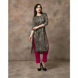Ladies 3/4th Sleeve Designer Kurtis, Size: L & XL