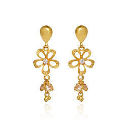 Women Drop Gold Earring