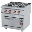 Four Burner Commercial Gas Range With Oven