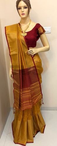 5cd879aa04850b Khadi Cotton Silk Plain Saree, Length: 6.3 M, Rs 910 /piece | ID ...