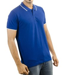 Pique Knit Polo T Shirts For Mens