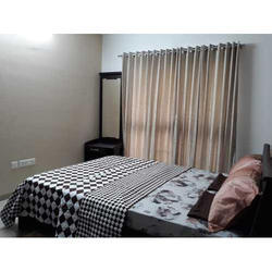 White Printed Cotton Bed Sheet for Home