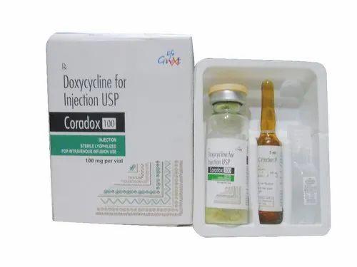 Doxycyline 100 mg Injection  ( Coradox - 100 )