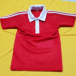 Red T-Shirt Collar Neck School Uniform