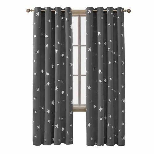 Printed Cotton Readymade Window Curtain