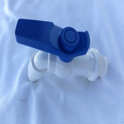 Pvc White, Blue NOZZLE BIB COCK TAP, Packaging Type: Box