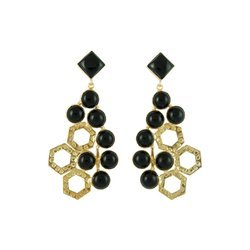 Octo Beautiful Earring Handmade Well Finished Gold Plated Royal Gift Party Wear Earring