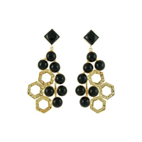 9a290d373 Sterling Silver Black Octo Beautiful Earring Handmade Well Finished Gold  Plated Royal Gift Party Wear Earring