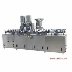 Automatic High Speed Dry Injectable Powder Filling With Rubber Stoppering Machine