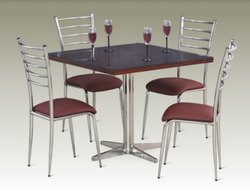 Brown Polished Stainless Steel Chair, For Cafe, Restaurant, Material Grade: 202