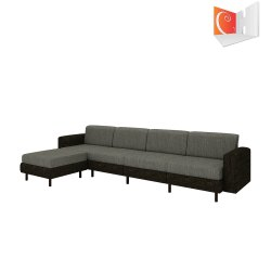 Grey L Shape Classy 3 Seater Long Sofa With Launge