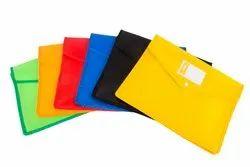 Classik Plastic Button File Folder Square Design Document Bag 0.35_607