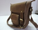 Leather Designer Messenger Bag