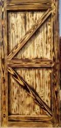 Smoked Pine Wood Reclaimed Door, Size/Dimension: 81x38 Inches