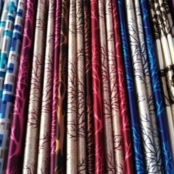 Printed Silk Window Curtain