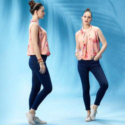Printed Tops and Jeans