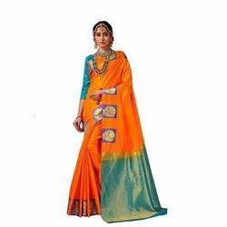 Wedding Wear Pattu Silk Saree, 6.3 Meter