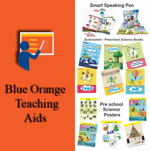children posters reference books study material blue orange