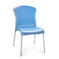 Blue Modern Cello Milano Plastic Chair, Warranty: 1 Year