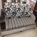 5 Seater Fabric Designer Sofa Set For Living Room, Warranty: 3 Year