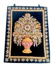 Zari Embroidery Jewel Carpet