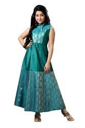 907e30e2eecd 30 And 32 Embroidered Girls Party Wear Long Dress