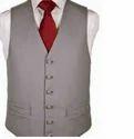 Brown Casual And Formal Men Waistcoat