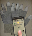 Carbon Knitted PU Tip Coated ESD Gloves