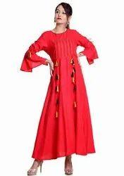 Reyon Party Wear Ladies Ethnic Wear
