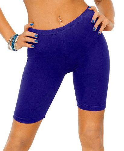 Secret Wear Neon Blue Color Womens Cycling Shorts e4c82808c
