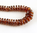 Hessonite Tyre Faceted Beads