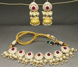 Meena Painted Necklace with Jhumki
