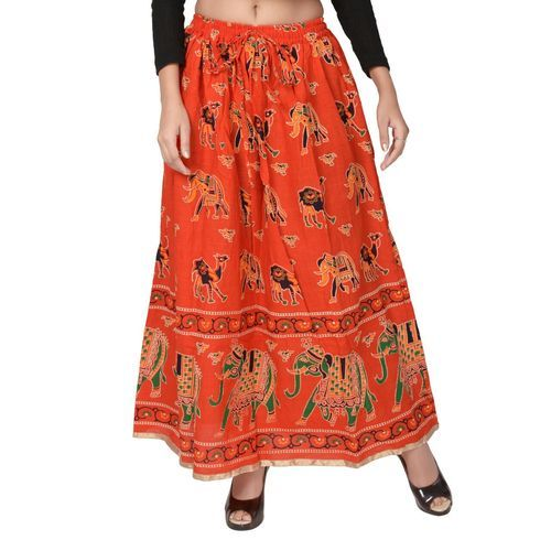 46ab85859e Cotton Traditional Rajasthani Long Length Skirt, Rs 145 /piece | ID ...