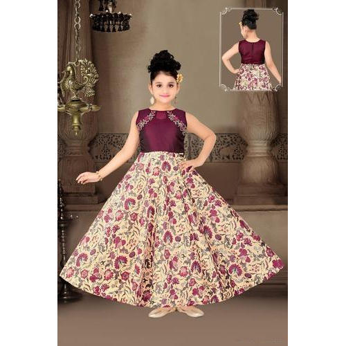9fb1a4386df47 Party Wear Kids Long Gown, Packaging Type: Box, Rs 1195 /piece | ID ...