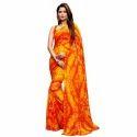 Red-Yellow Bandhani Saree